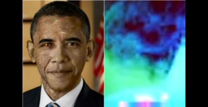 Al parecer, Obama tiene un 'reptil implantado en la parte posterior de su cabeza'